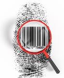 удостоверение личности кода штриховой маркировки Стоковые Фото