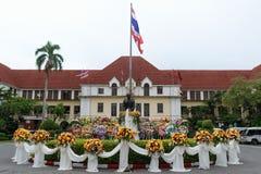 Удостойте предыдущей железной дороги командира положения Таиланда Стоковое фото RF