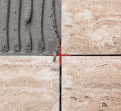 Улучшение дома - предпосылка керамической плитки стоковые изображения