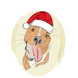 Улыбка собаки drawb руки красная Стоковое Фото