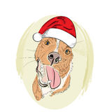 Улыбка собаки drawb руки красная иллюстрация штока