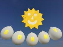 Улыбка Солнця в небе Стоковая Фотография RF