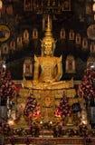 Улыбка усаживая Будды Стоковая Фотография