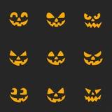 Улыбки призрака на хеллоуин party фокус или значки вектора обслуживания имеют потеху и страшный Стоковые Изображения