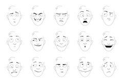 Улыбки эмоции Стоковая Фотография RF