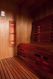 Ультракрасная кабина сауны Стоковое фото RF