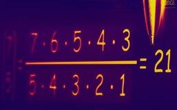 Ультракрасная формула Стоковая Фотография RF