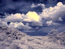 Ультракрасная фотография южной горы Ural стоковое фото