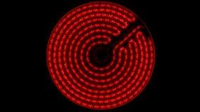 Ультракрасная электрическая плита поворачивает дальше, нагревает до максимума и  сток-видео
