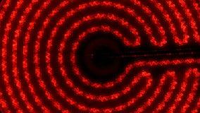 Ультракрасная электрическая плита поворачивает дальше, нагревает до максимума и  сигнал Вращение камеры Взгляд сверху видеоматериал