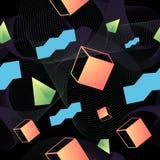 Ультрамодная геометрическая безшовная картина с стилем 80s Стоковые Изображения RF