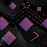 Ультрамодная геометрическая безшовная картина с стилем 80s Стоковое Изображение RF