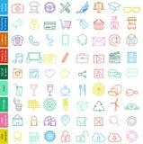 Ультрамодная иллюстрация установленных значков сети Стоковые Изображения