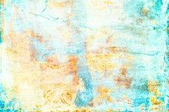 Ультрамодная предпосылка искусства лета Grunge красочное текстурированное Backdro Стоковое Изображение