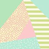 Ультрамодная предпосылка стиля Мемфиса с ретро текстурой, картиной и геометрическими элементами стиля Стоковое Изображение RF