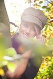 Ультрамодная современная молодая белокурая женщина Стоковые Изображения