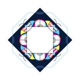 Ультрамодный дизайн стиля рамки карточки Абстрактные геометрические элементы положение Стоковые Изображения