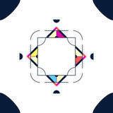 Ультрамодный дизайн стиля рамки карточки Абстрактные геометрические элементы Стоковые Изображения