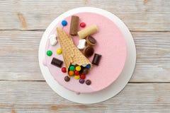Ультрамодный современный торт мусса Стоковые Изображения