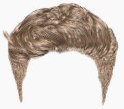 Ультрамодный стильный край волос человека дизайн волос красоты высокий Реалистическое 3d иллюстрация вектора