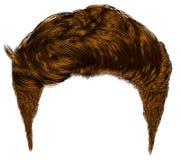 Ультрамодный стильный край волос человека иллюстрация вектора