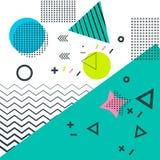 Ультрамодный стиль Мемфиса геометрических элементов ретро текстура Стоковое Изображение RF