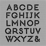 Ультрамодный шрифт letterpress Стоковое фото RF