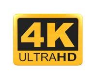 Ультра значок HD 4K Стоковые Фотографии RF