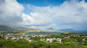 Ультра низко гаваиская радуга стоковое изображение