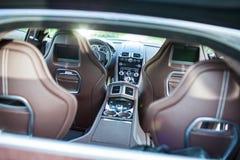 Ультра роскошная спортивная машина (внутреннее) II Стоковые Фото
