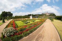 Ультра широкоформатный общественного парка и орнаментального сада Стоковое Фото