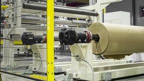 Фабрика внутренность Интерьер промышленного здания Завод для продукции полиэтиленовой пленки Стоковые Фото
