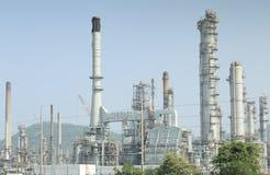 Фабрика газа взгляда обрабатывая Стоковое Изображение RF