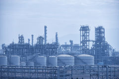 Фабрика газа обрабатывая Стоковые Изображения