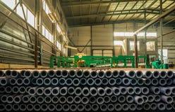 Фабрика где произведенный бурильной трубе Стоковое Фото
