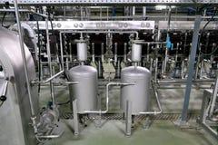 Фабрика для продукции крахмала от картошек Интерьер предприятия химическое производство стоковые изображения