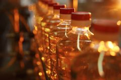 Фабрика для продукции подсолнечного масла Стоковые Фото