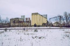 Фабрика зерна обрабатывая на Риге Фото перемещения стоковое изображение