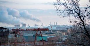 Фабрика и индустриальная зона Стоковые Фотографии RF