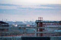 Фабрика и индустриальная зона Стоковая Фотография