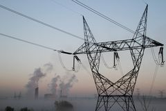 Фабрика и электричество Стоковое Изображение