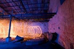 Фабрика картины света стальных шерстей стоковые фотографии rf