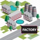 Фабрика карты равновеликая Стоковые Фотографии RF