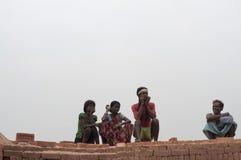 Фабрика кирпича в Индии Стоковое Изображение RF