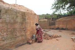 Фабрика кирпича в Индии Стоковые Фото