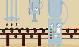 Фабрика конфеты Машина для продукции конфеты шоколадов Стоковые Фотографии RF