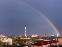 1 фабрика печных труб Стоковая Фотография