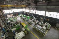 Фабрика производящ меля и филируя и сверля машины Стоковые Фотографии RF