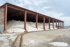 Фабрика соли около Burgas, Болгарии Стоковые Фото