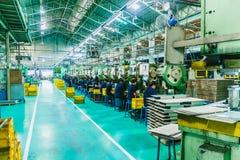 Фабрика с машинами Стоковое Изображение